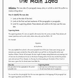 Main Topic Worksheet 2nd Grade   Printable Worksheets and Activities for  Teachers [ 2200 x 1700 Pixel ]