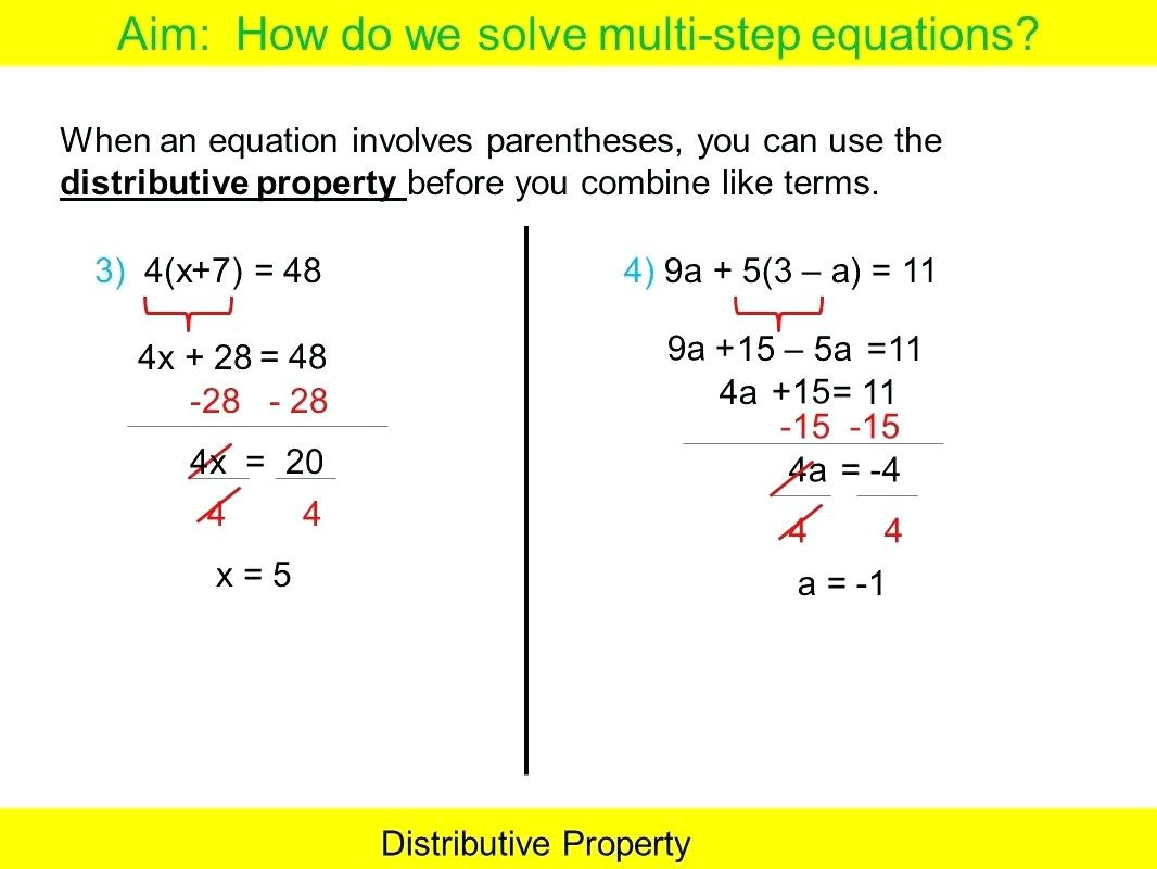 Multi Step Equation Solver Math Types Of Equations Solving
