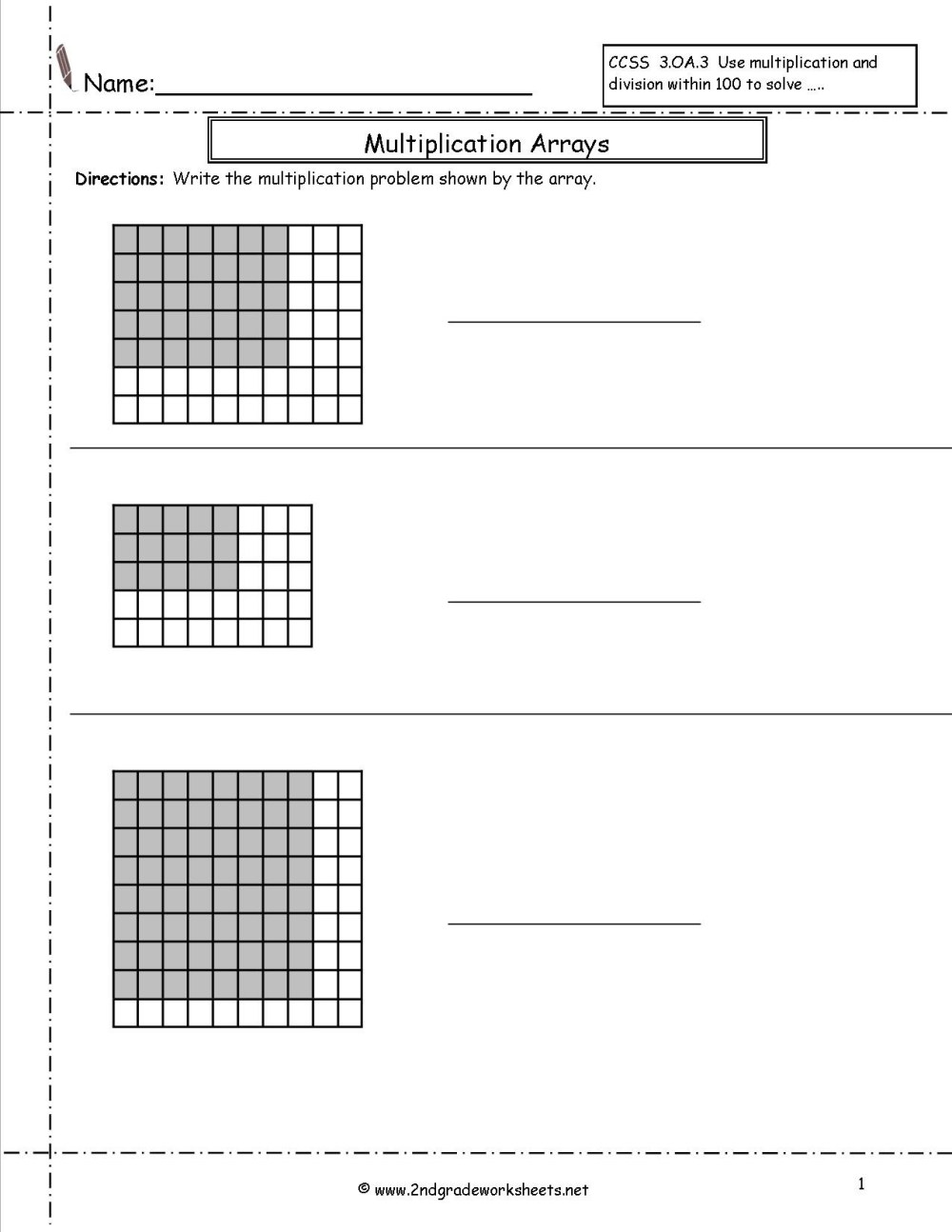 medium resolution of Printable Array Worksheets   Printable Worksheets and Activities for  Teachers