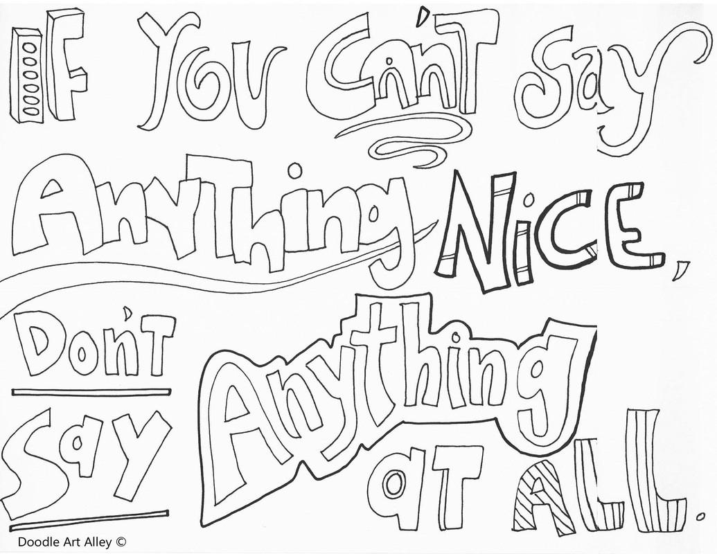 Bullying Coloring Worksheets