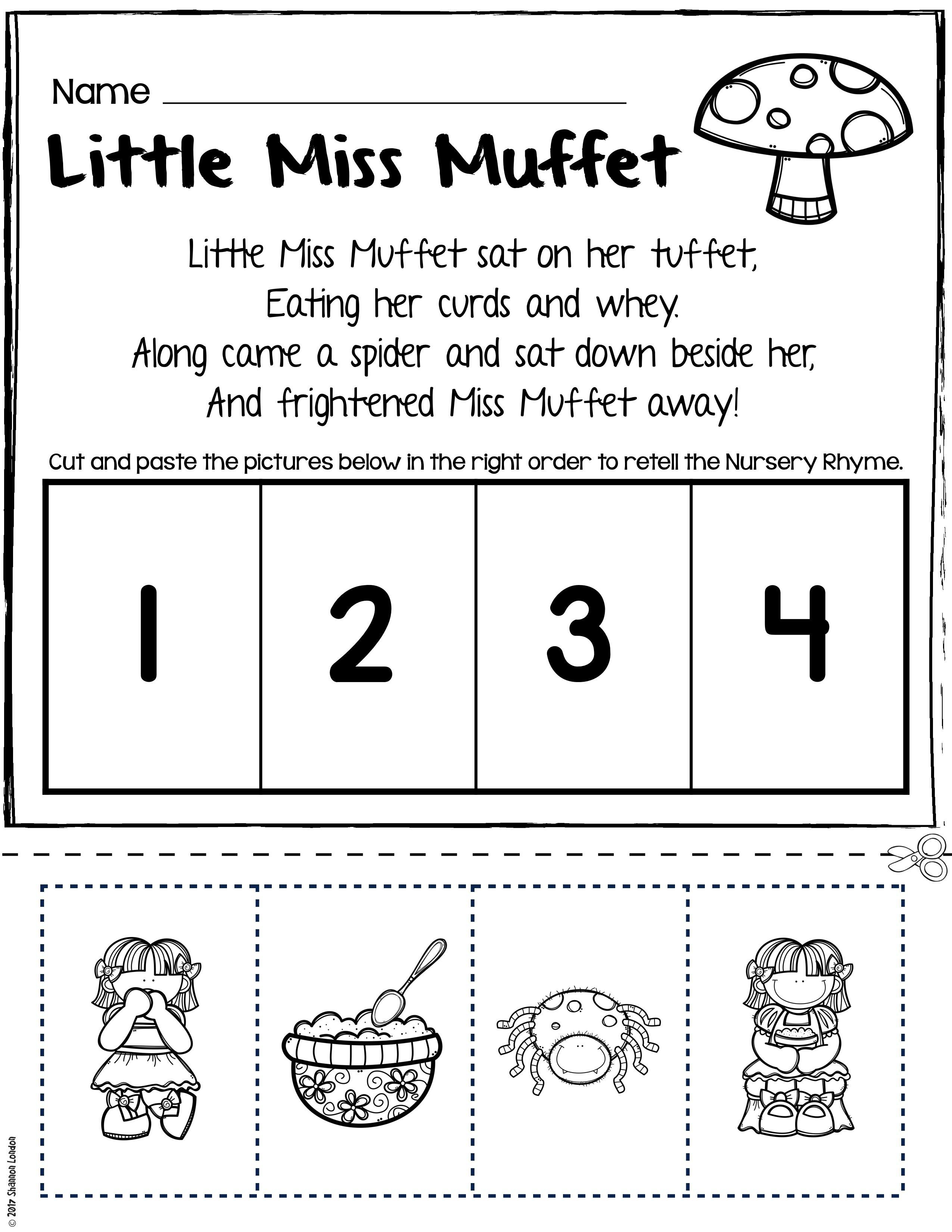 Rhyming Worksheets For Preschoolers