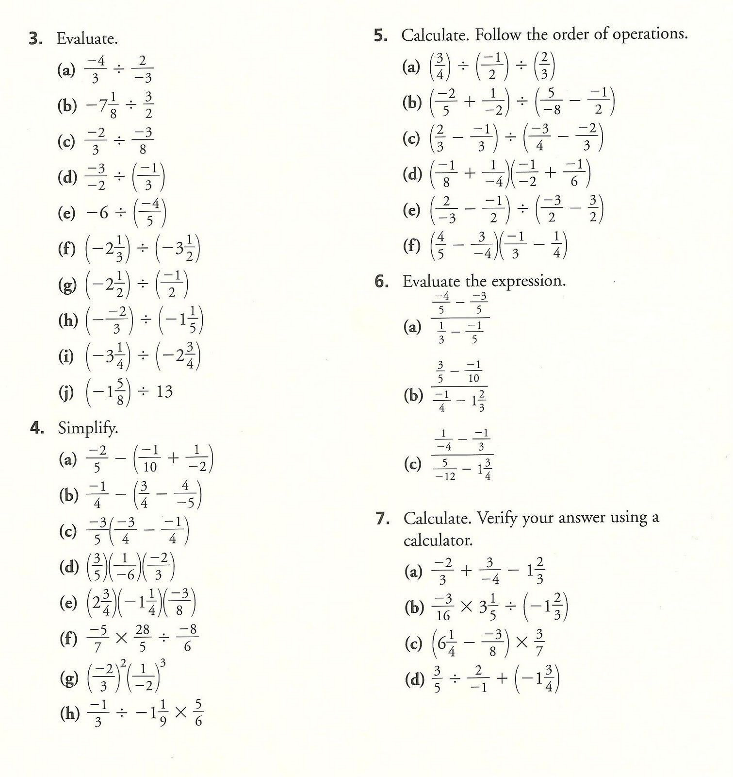 Order Of Operations Pemdas Practice Worksheets Answers