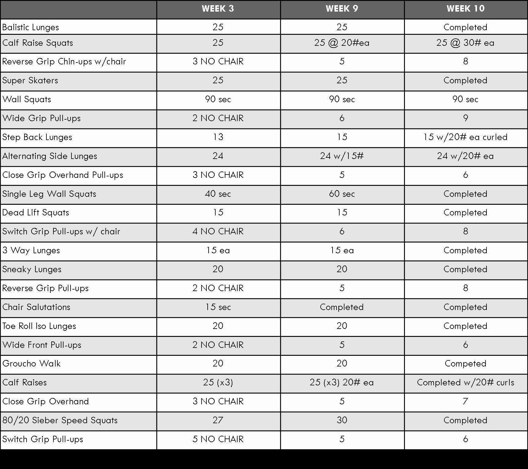 P90x Ab Ripper X Worksheet
