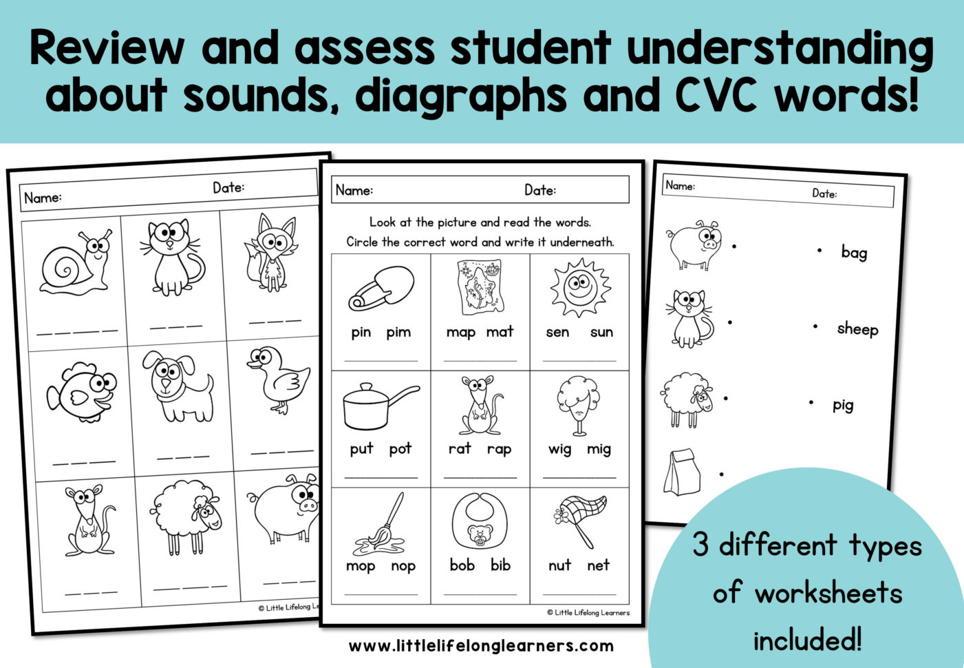 Phonics Worksheets Assessment And Revision