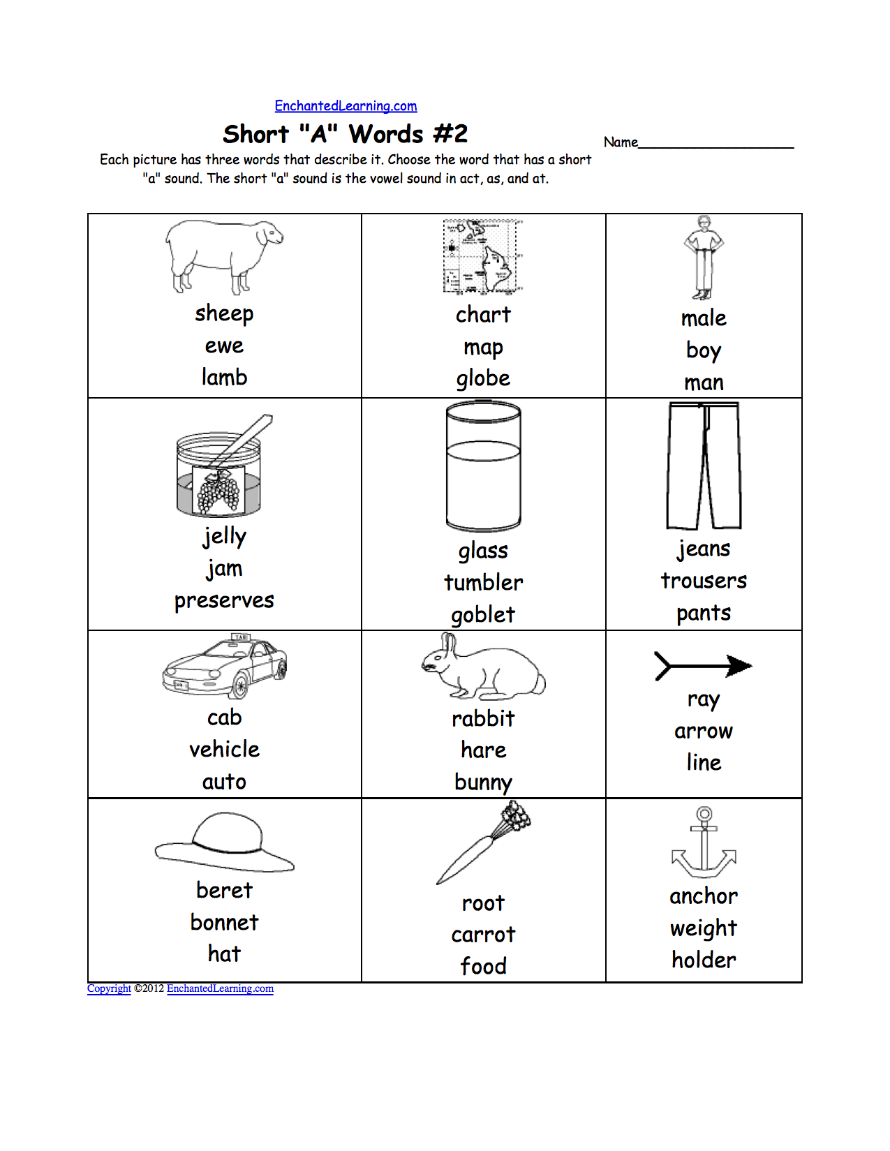 Mark The Vowels Worksheet