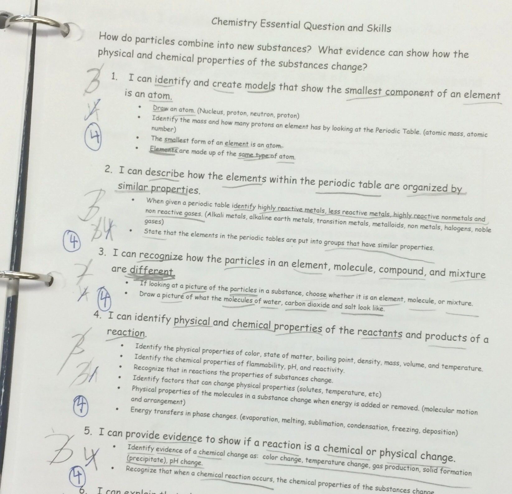 Physical And Chemical Properties And Changes Worksheet