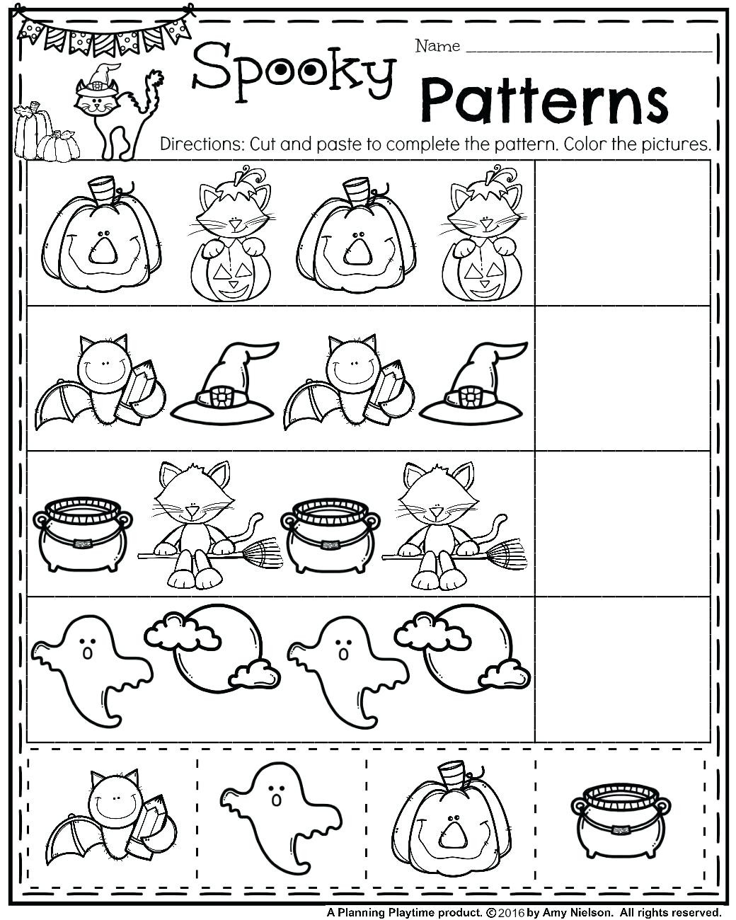 Pre K Pattern Worksheets Shoppageco