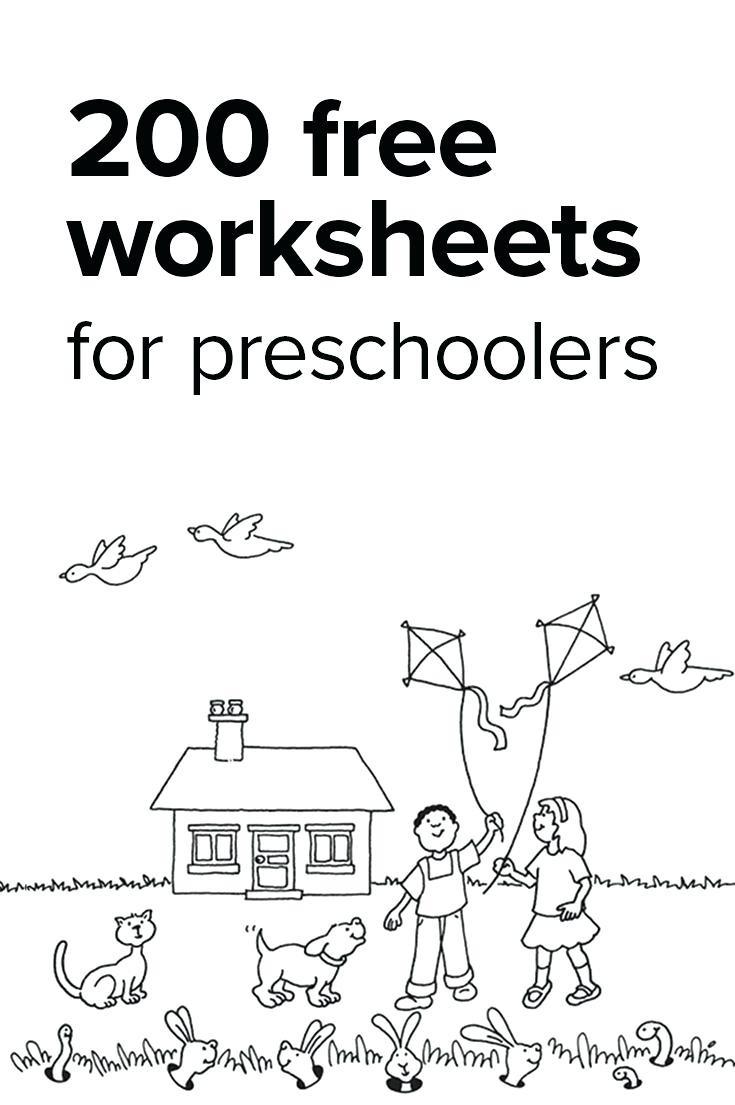Preschool Activities Worksheets For Print Math Worksheet