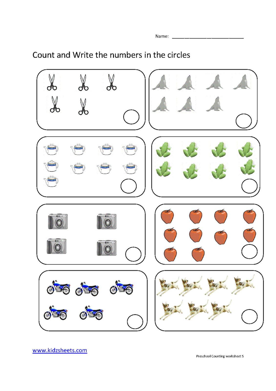 Preschool Counting Worksheets Free Printable Download Them