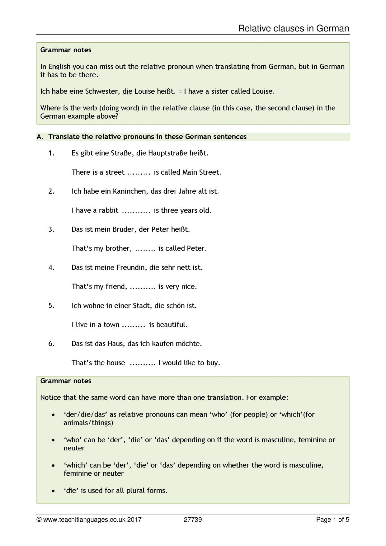 Double Object Pronouns Spanish Worksheet