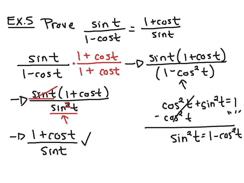 Proving Trig Identities Math Trigonometric Identities