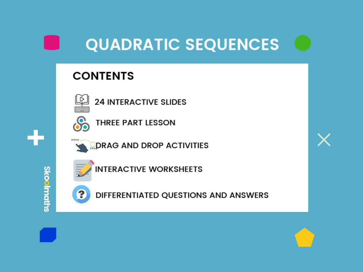 Quadratic Sequence Higher Se 59 Us 9th Grade 10th Grade