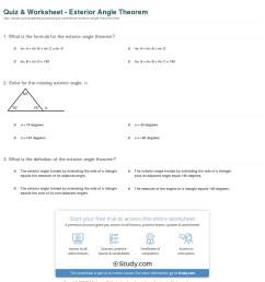 Exterior Angles Of A Triangle Worksheet   Printable Worksheets and  Activities for Teachers [ 1316 x 1140 Pixel ]