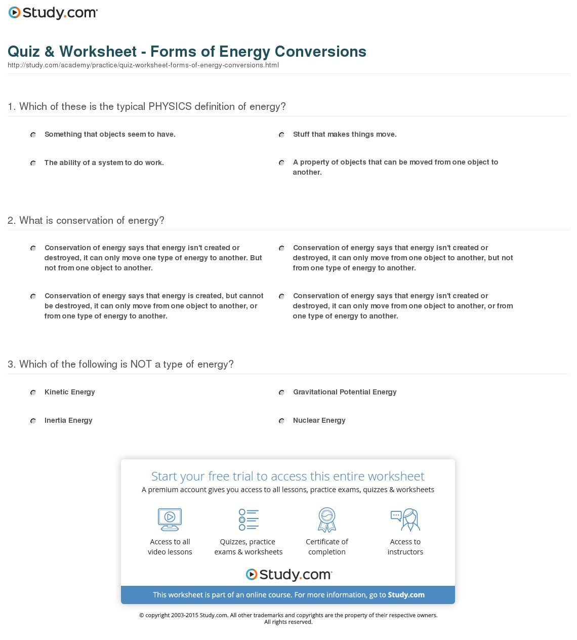 Energy Conversion And Conservation Worksheet Answers 5 2