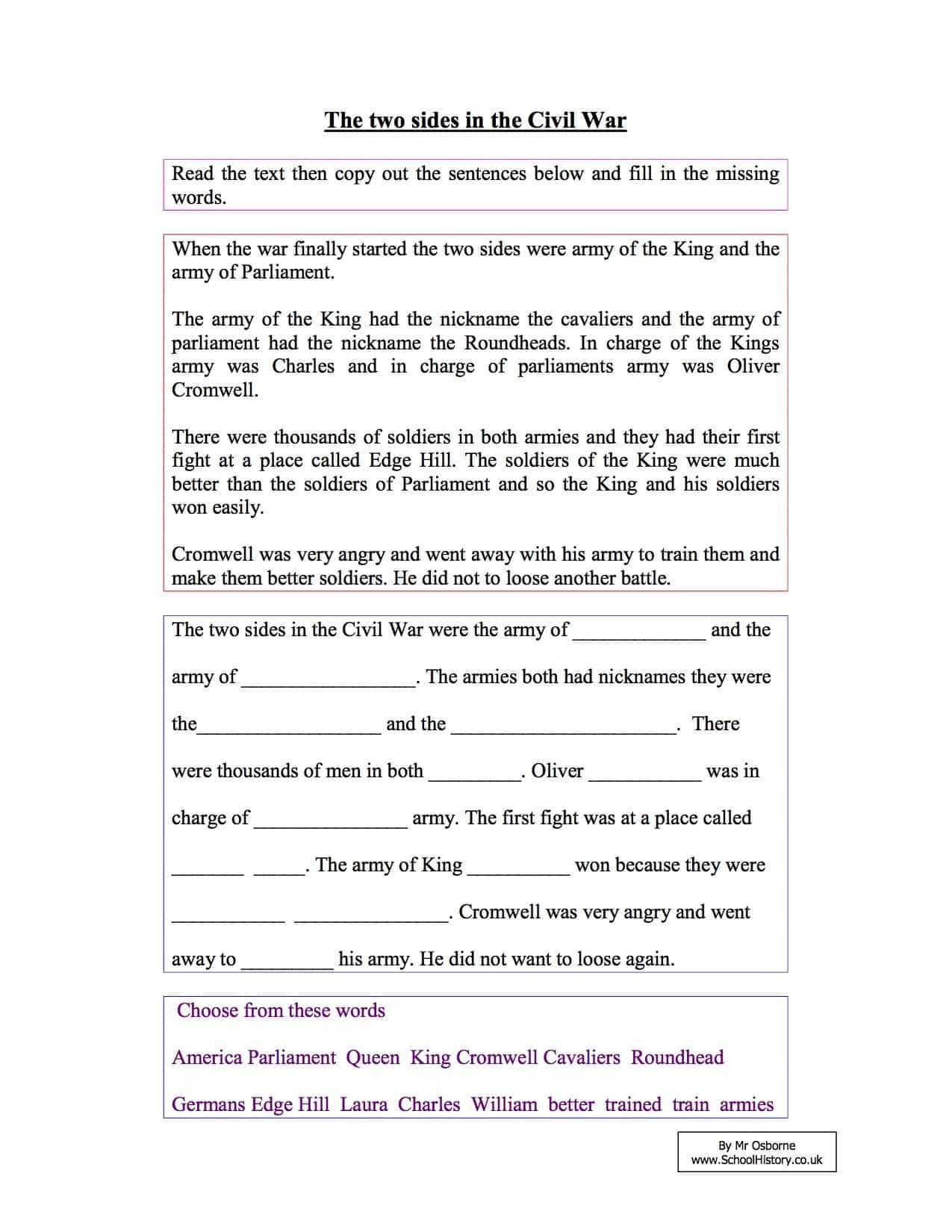 Reading Comprehension Worksheets 7th Grade Free Worksheet