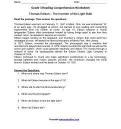 3rd Grade Reading And Writing Worksheets   Printable Worksheets and  Activities for Teachers [ 2200 x 1700 Pixel ]