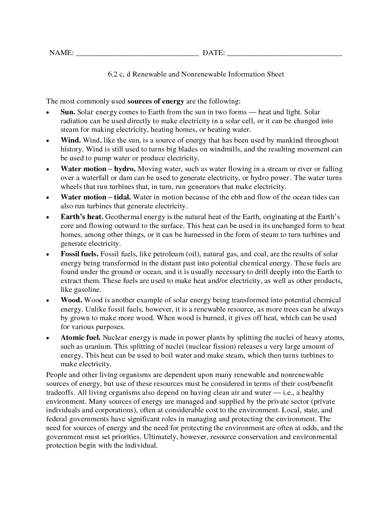 Modern Marvels Renewable Energy Worksheet Answers