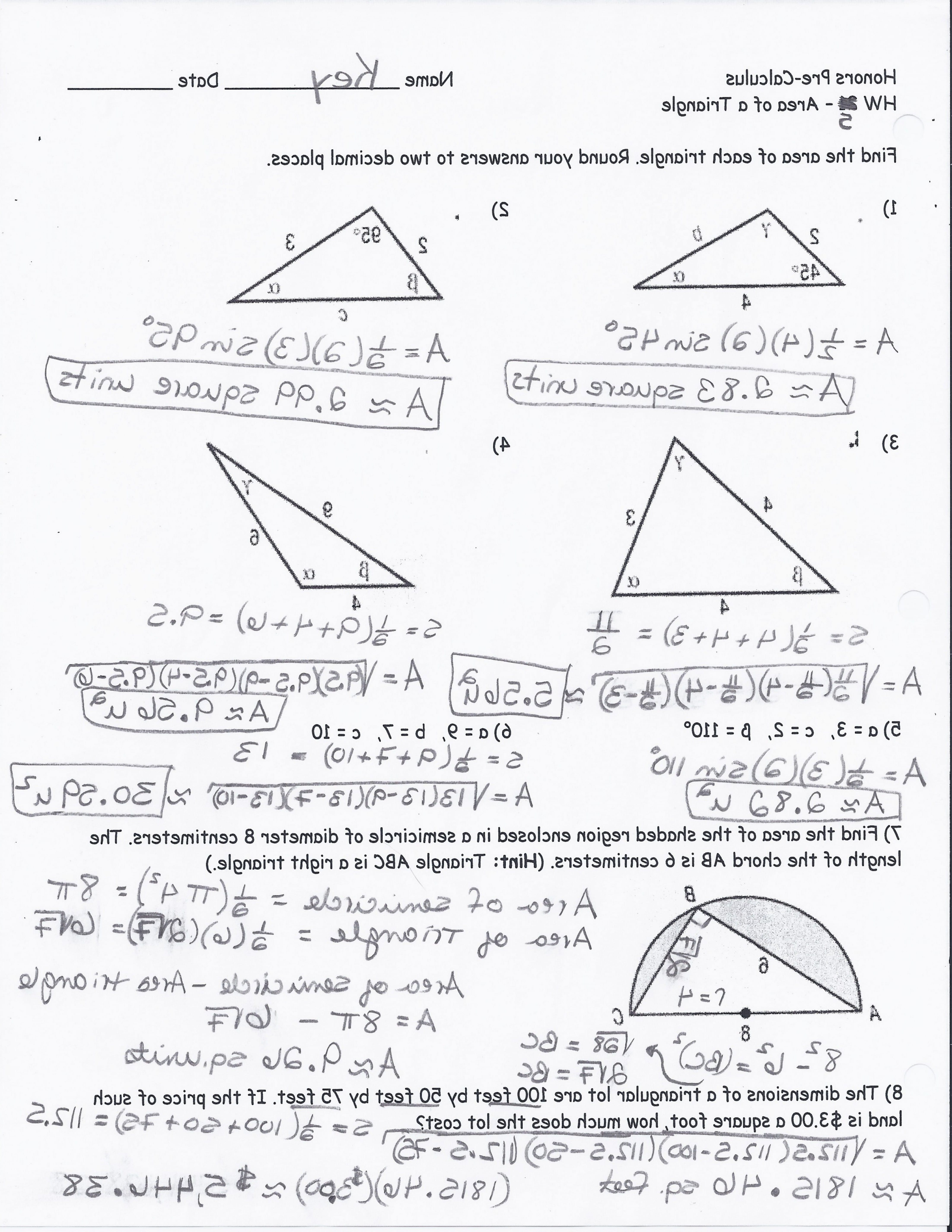 Trigonometry Worksheets With Answers