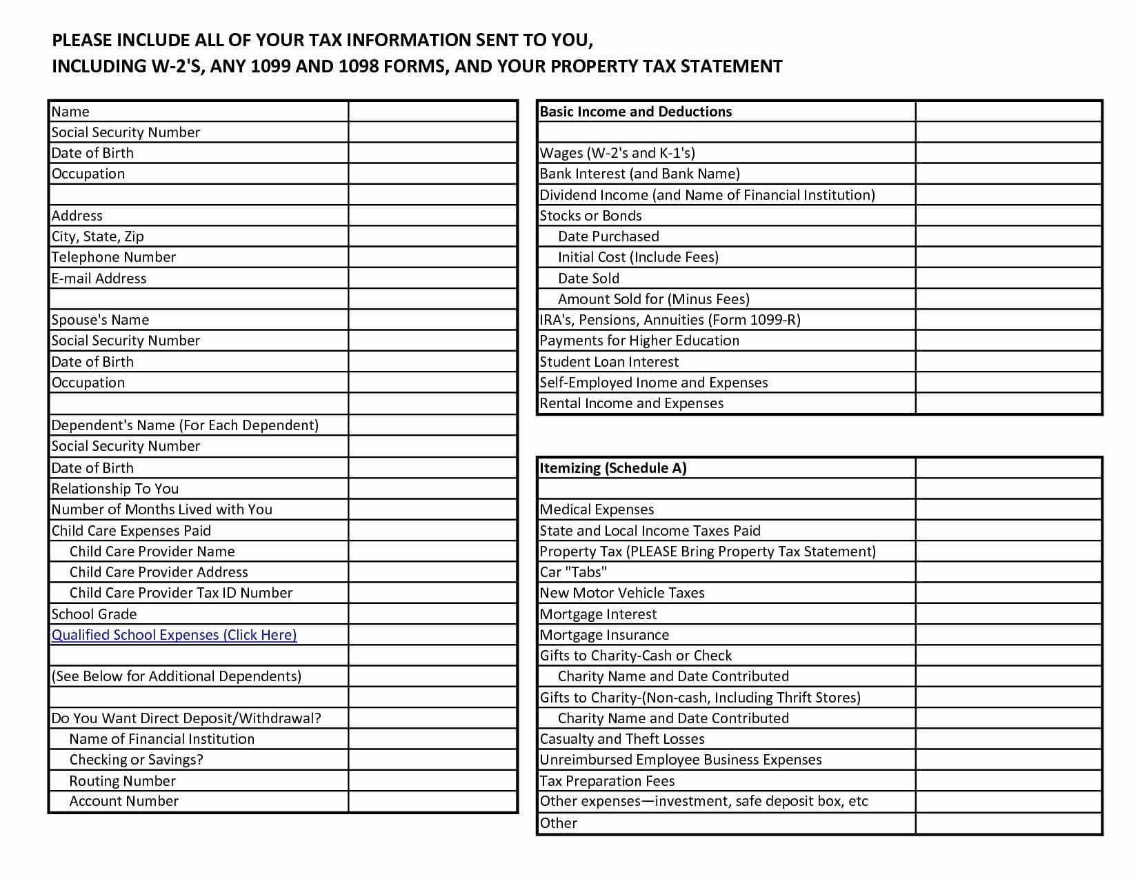 Schedu Small Business Tax Deductions Worksheet Perfect
