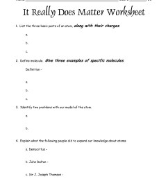 Worksheets For States Of Matter   Printable Worksheets and Activities for  Teachers [ 1650 x 1275 Pixel ]
