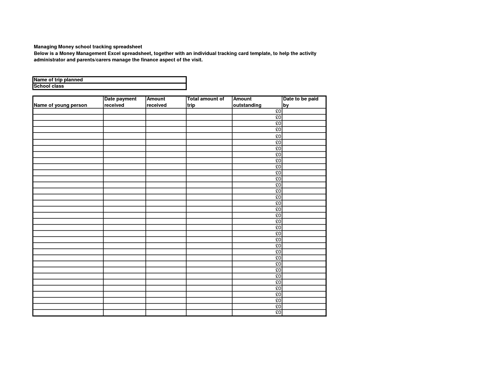 Free Money Management Worksheets