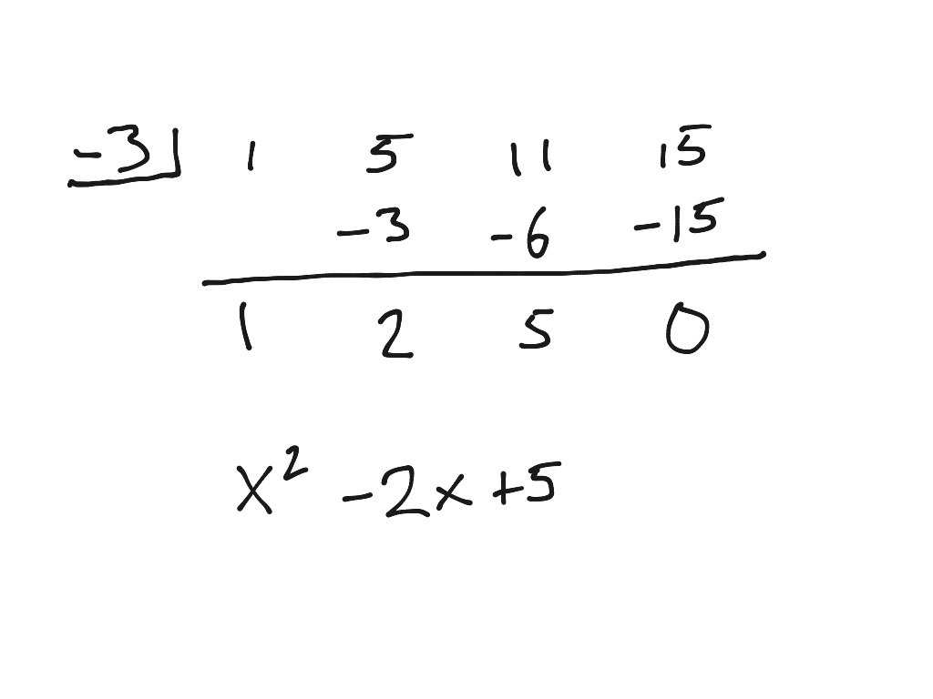 Showme Long And Synthetic Division Worksheet Algebra 2