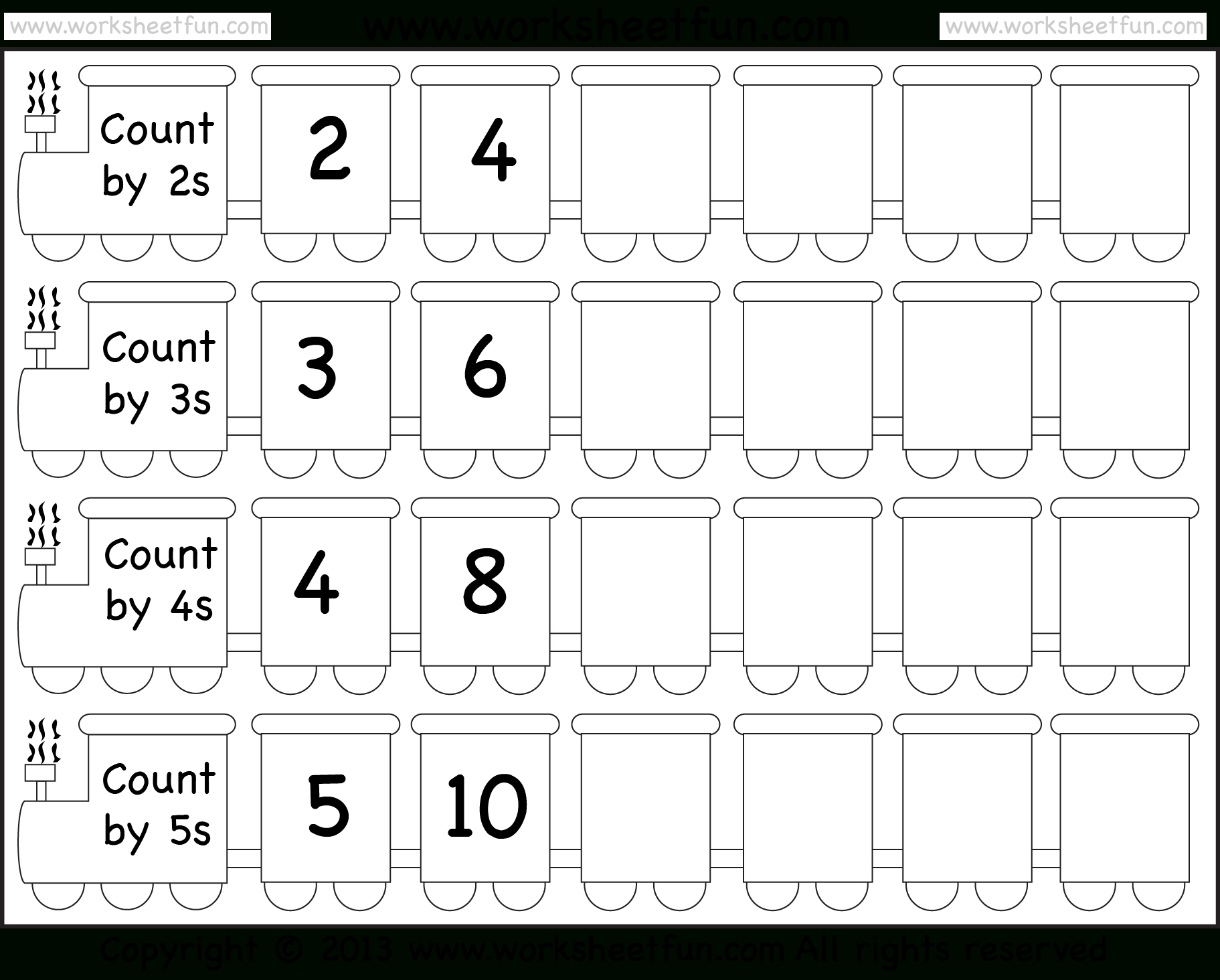 Skip Counting By 3 Worksheet