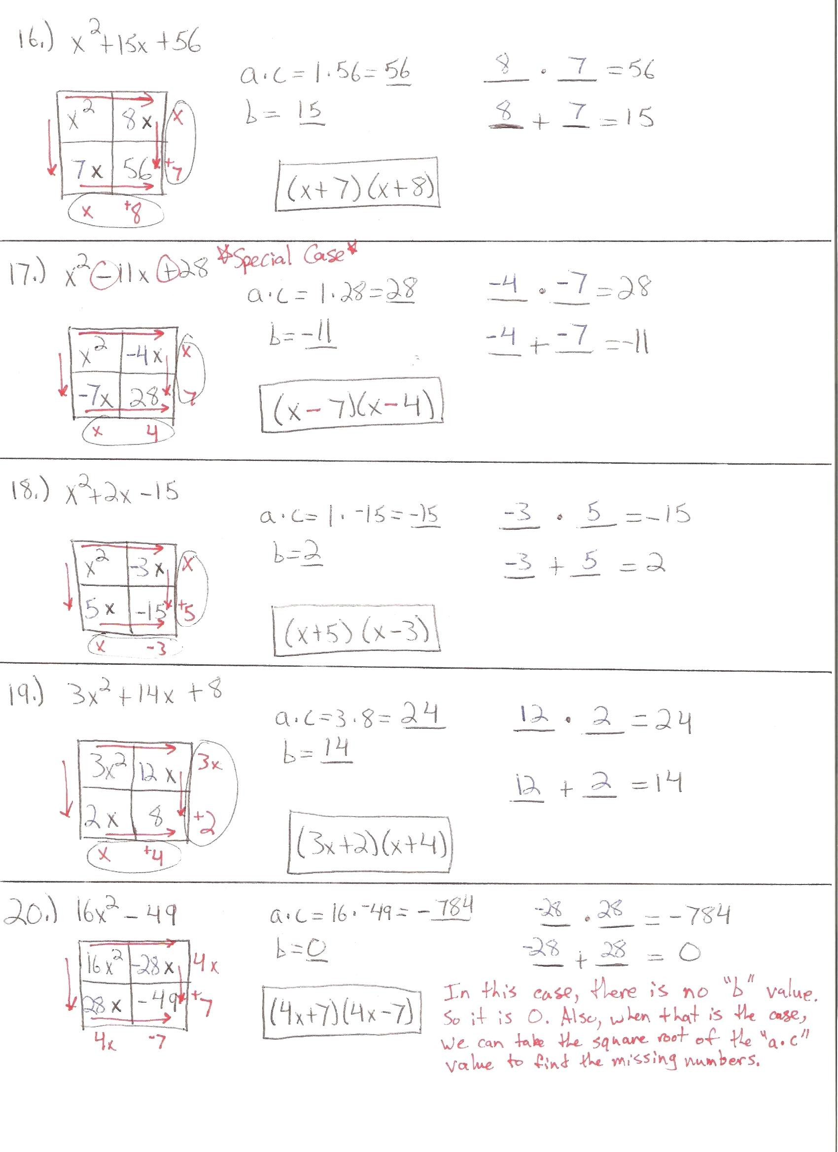 Solve Quadratic Equationsgraphing Worksheet Math The