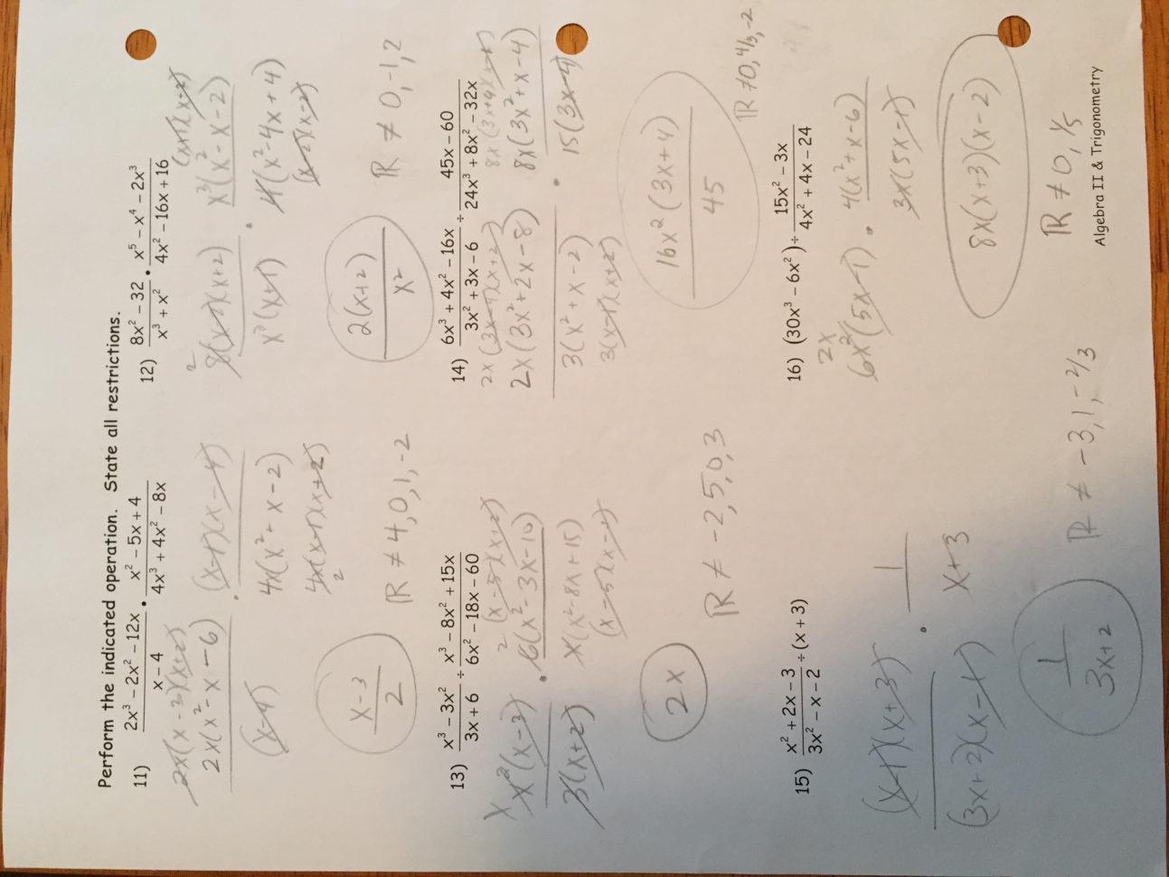 Solving Polynomial Equations Worksheet Algebra 2