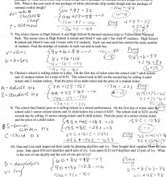 Solve System By Substitution Worksheet   Printable Worksheets and  Activities for Teachers [ 2048 x 1639 Pixel ]