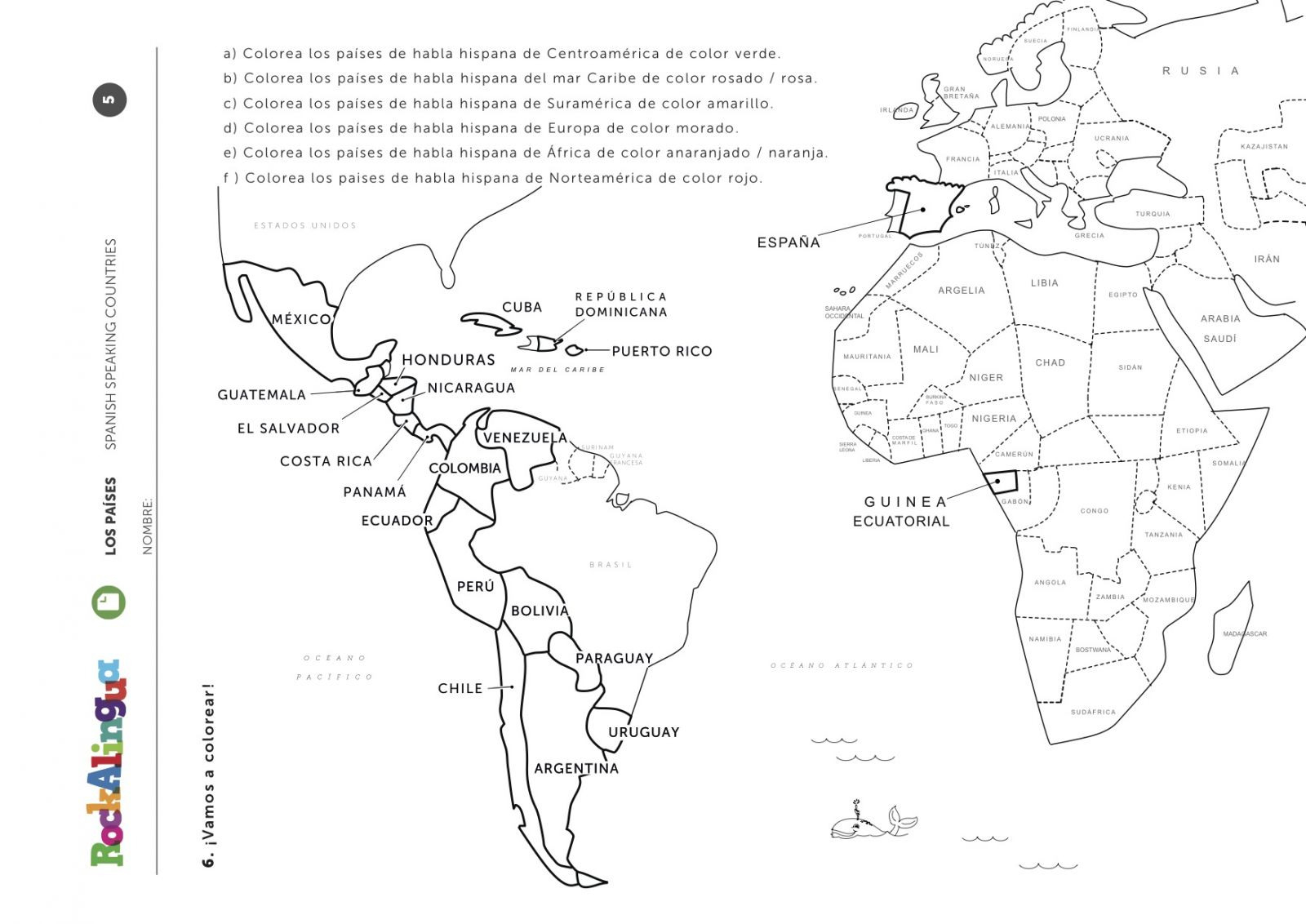 Printable Spanish Worksheets
