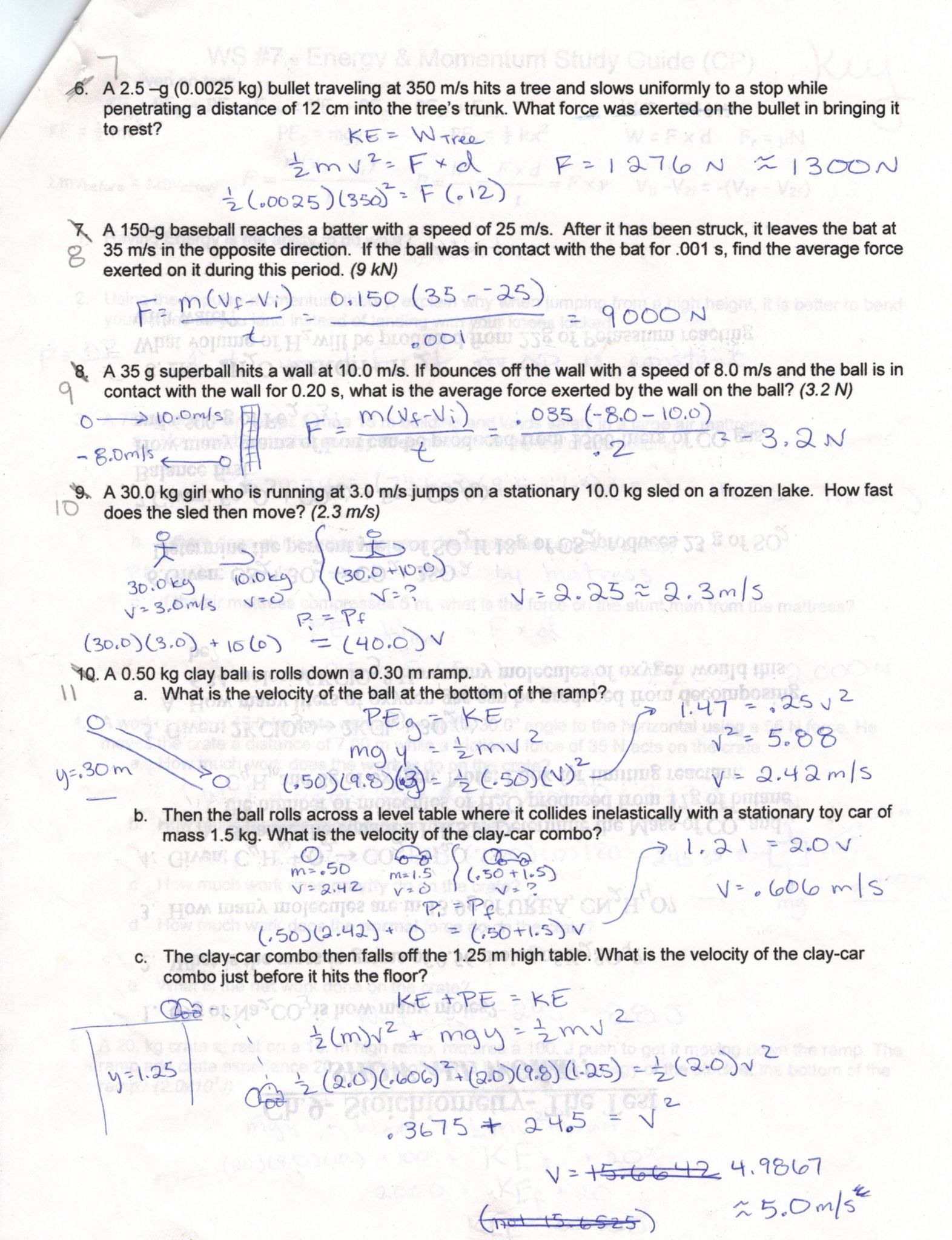 Acceleration Problems Worksheet Answer Key