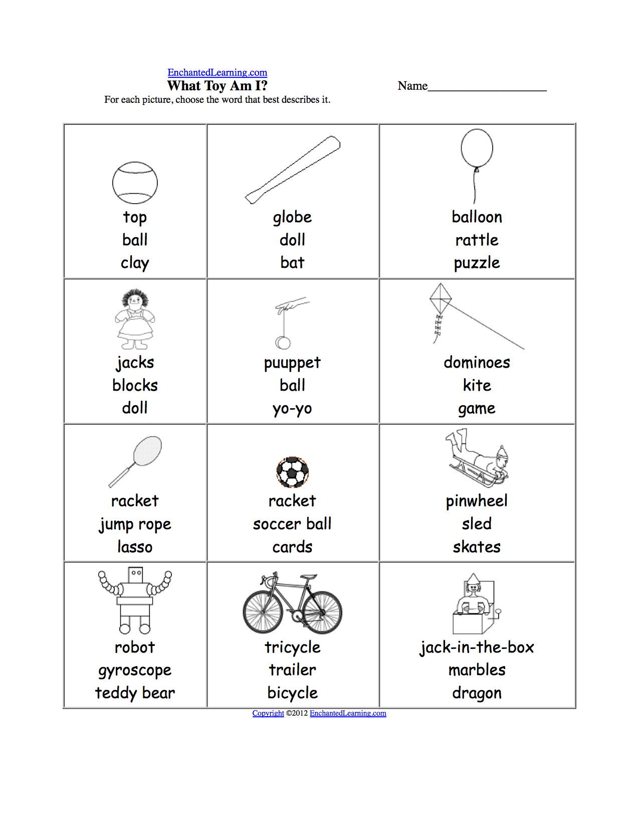 Spelling Worksheets Grade 1