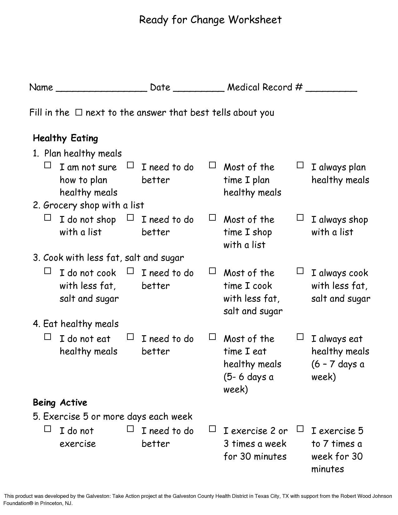 Stages Of Change Worksheet For Kids Free Worksheets