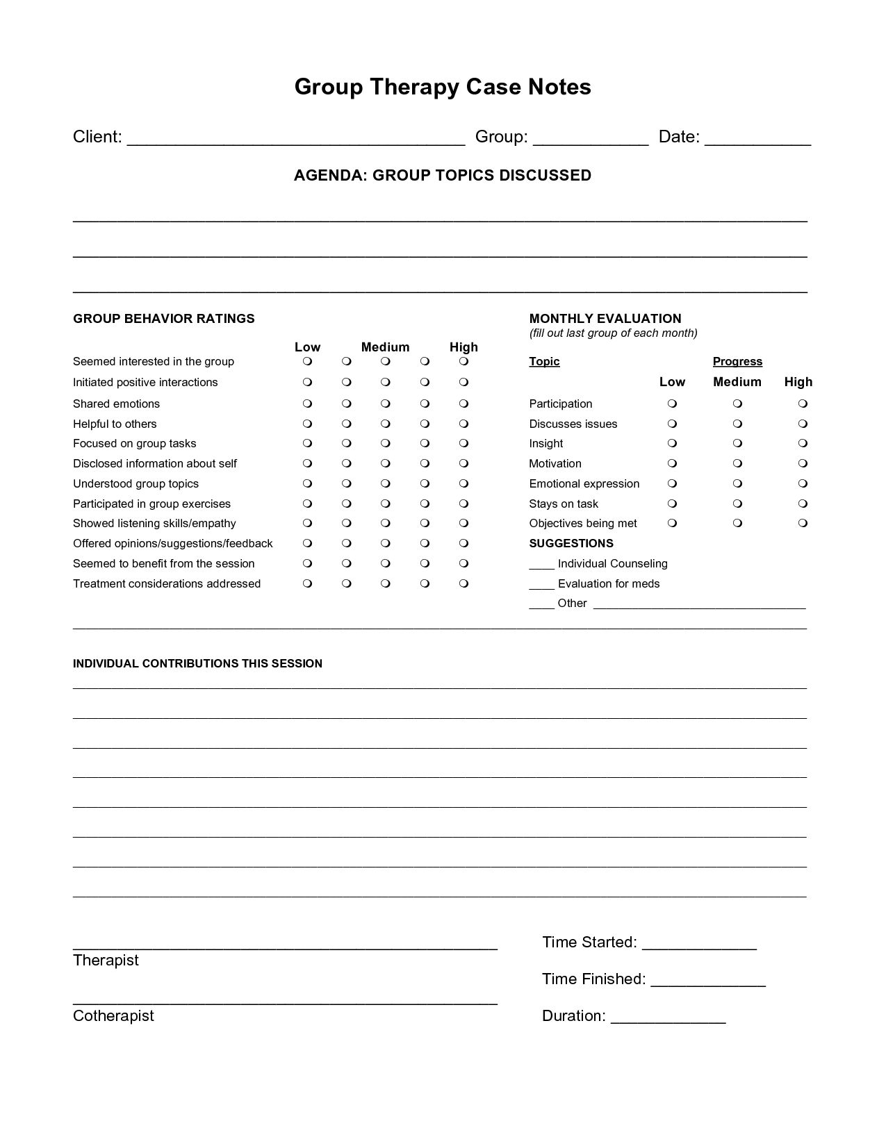 Substance Abuse Worksheets