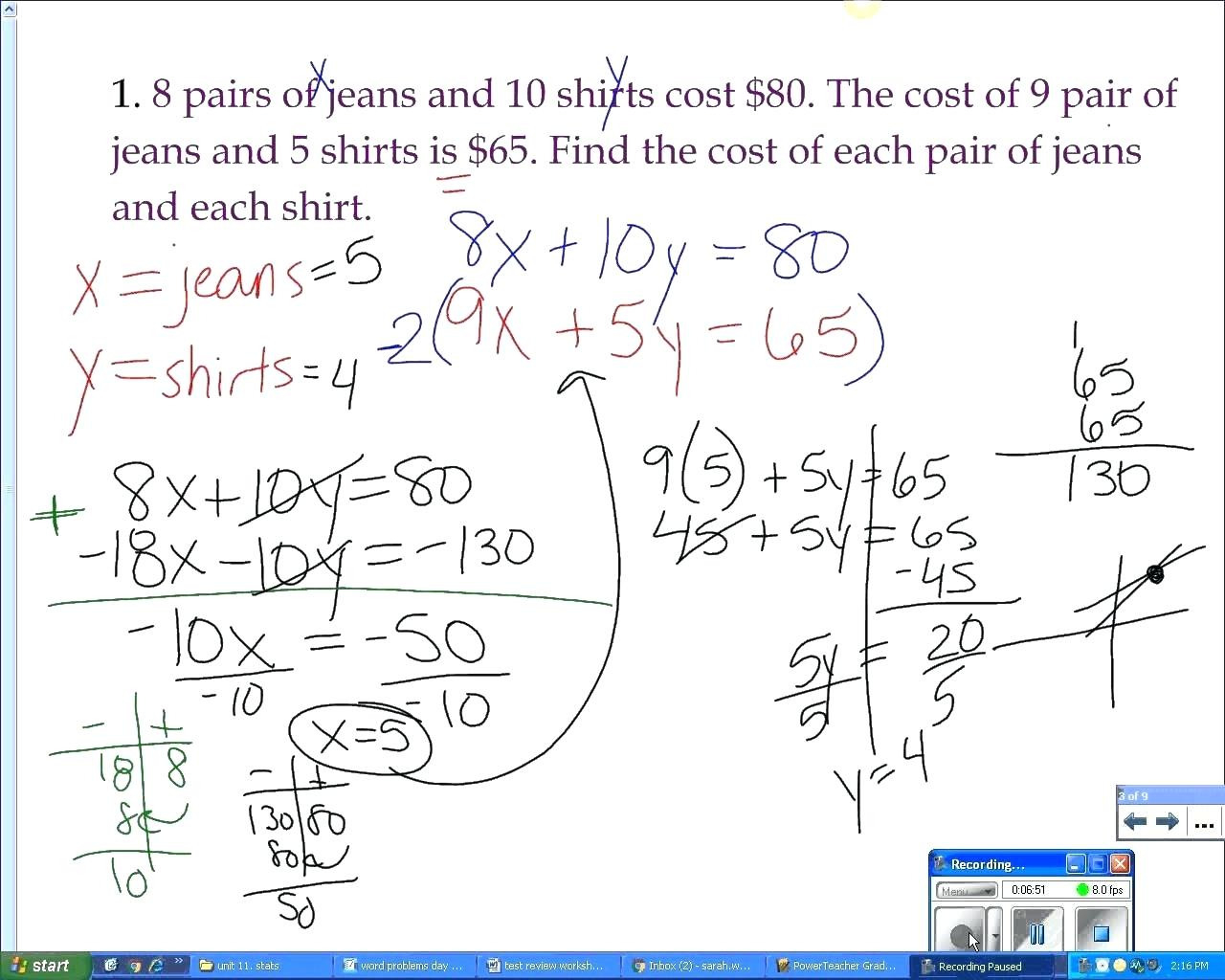 Substitution Worksheet Math Solving Systems Of Equations