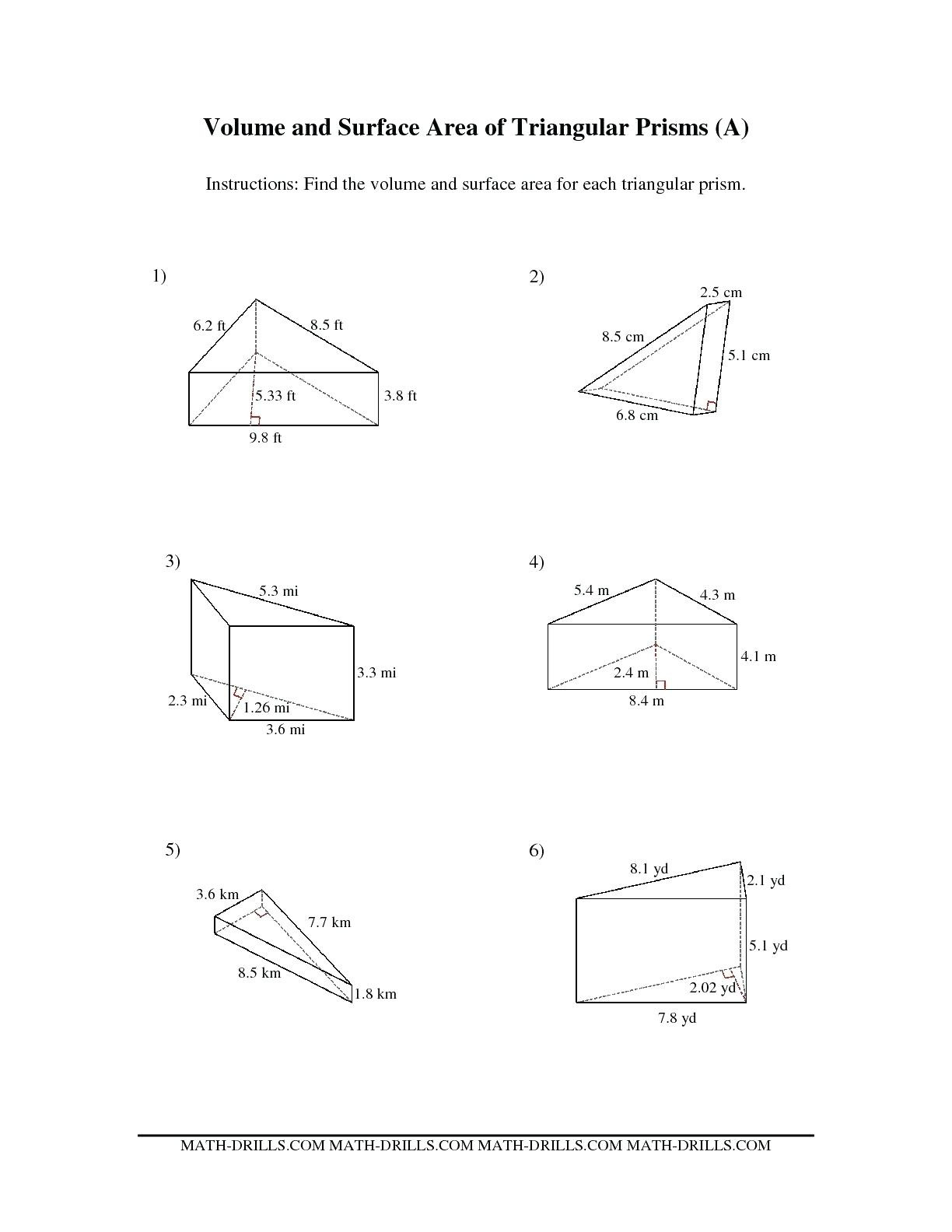 Surface Area Worksheet Pemdas Worksheets All About Me