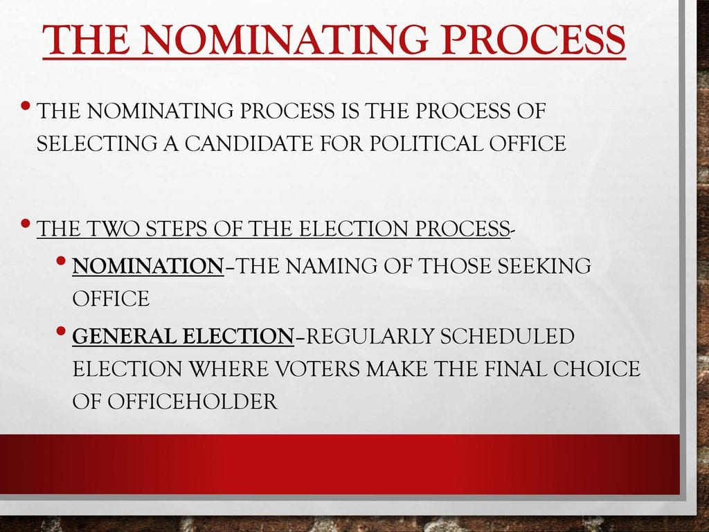 Chapter 7 The Electoral Process Worksheet Answers