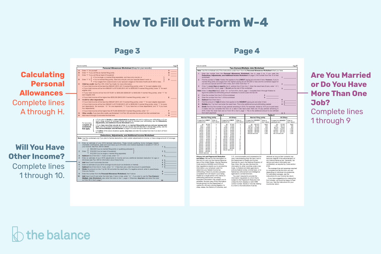 Form W 4 Worksheet