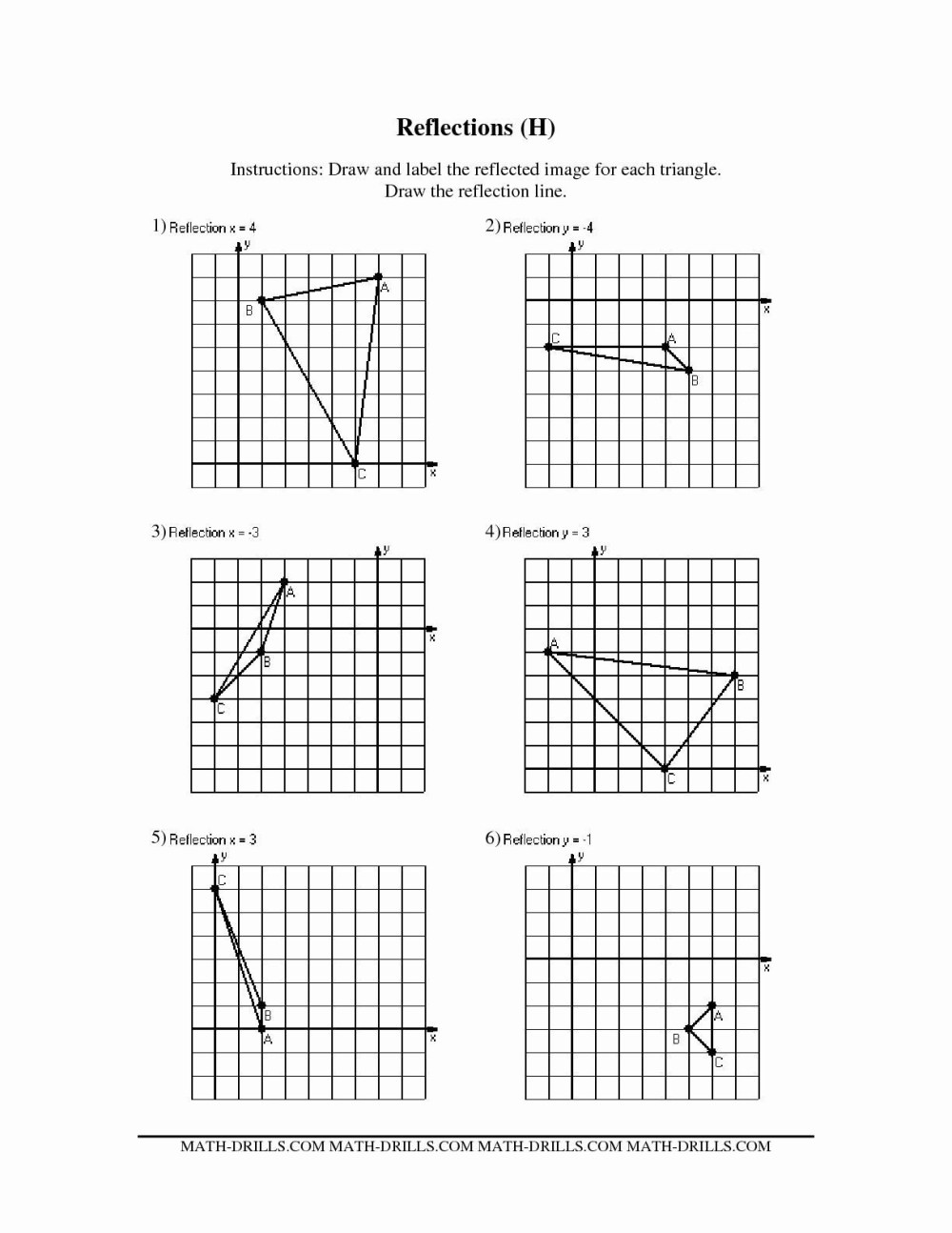 medium resolution of Trapazoid Worksheet Translations Rotations Reflections   Printable  Worksheets and Activities for Teachers