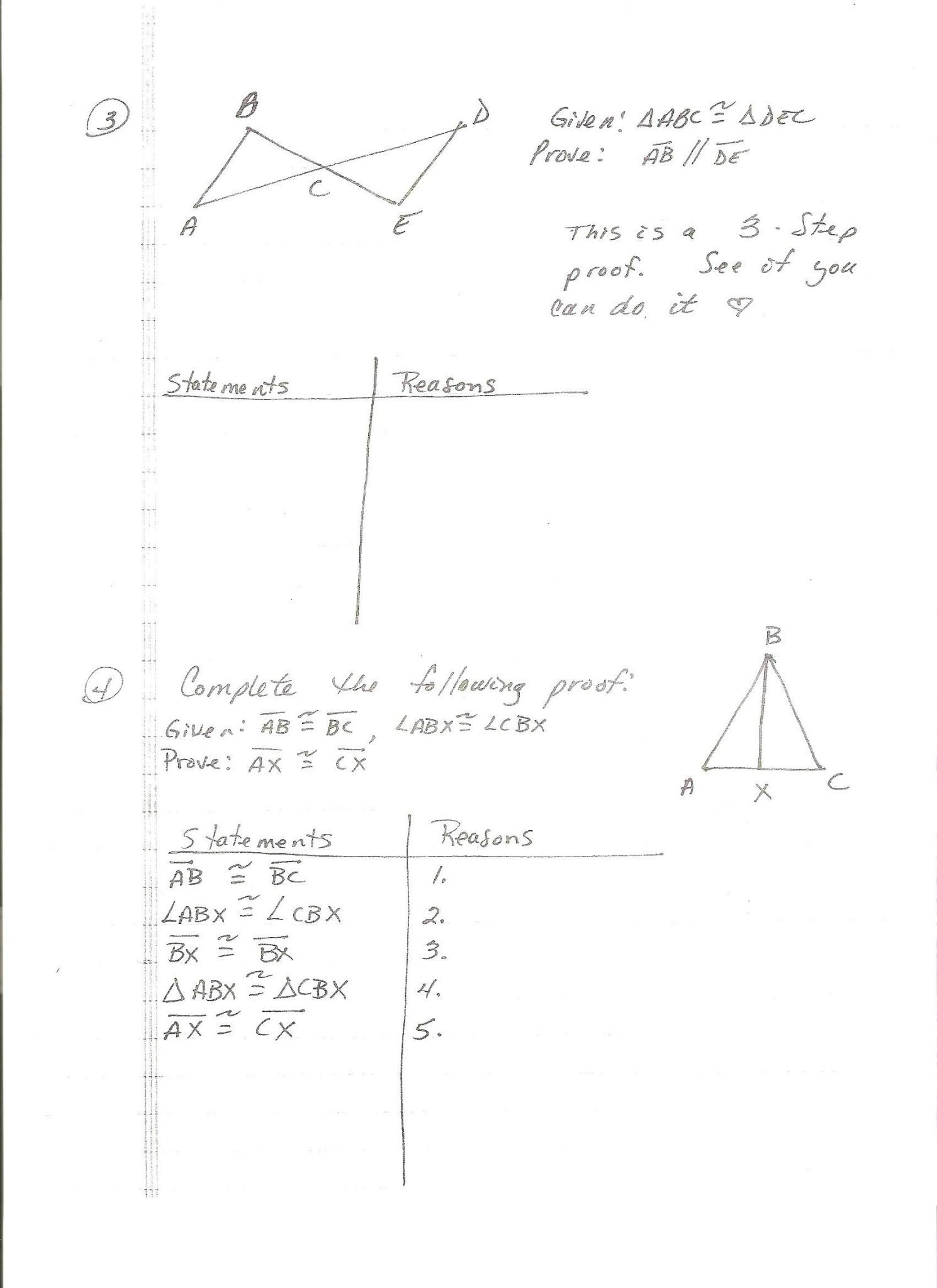 Proofs Worksheet 1 Answers Db Excel
