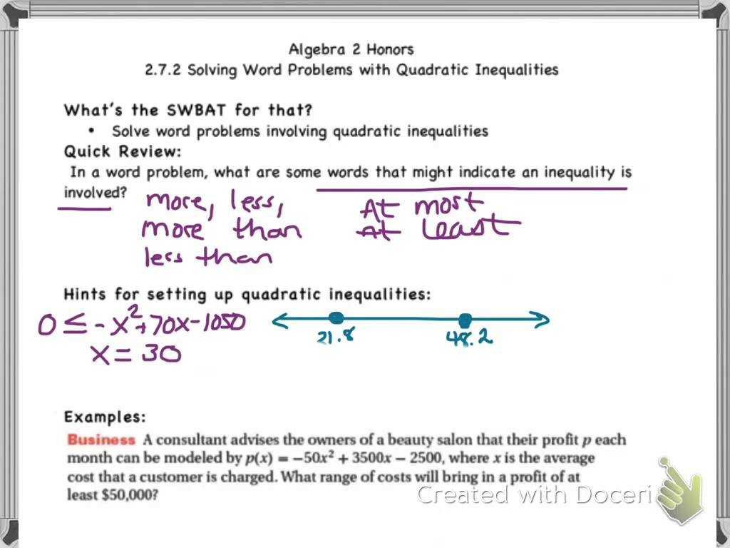 hight resolution of Algebra 2 Equations And Inequalities Worksheets