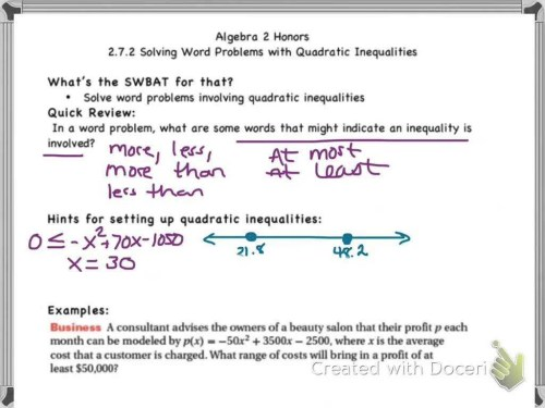 small resolution of Algebra 2 Equations And Inequalities Worksheets