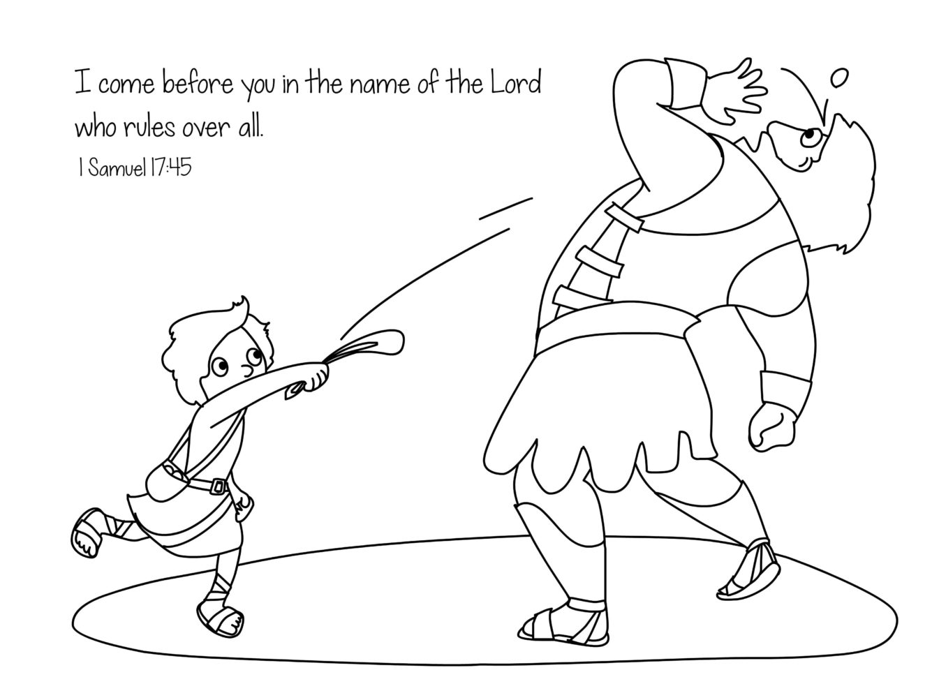 Unique Sunday School Coloring Pages David And Goliath Top