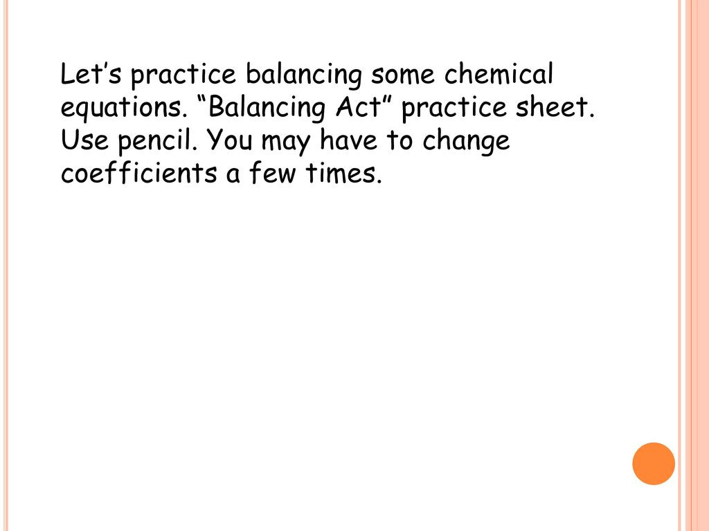 Balancing Act Practice Worksheet Answers