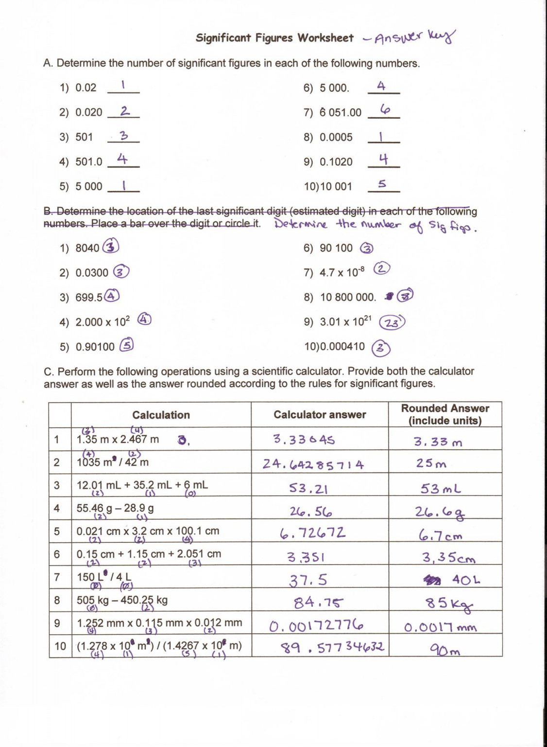 Metric Conversion Worksheet 1 Answer Key