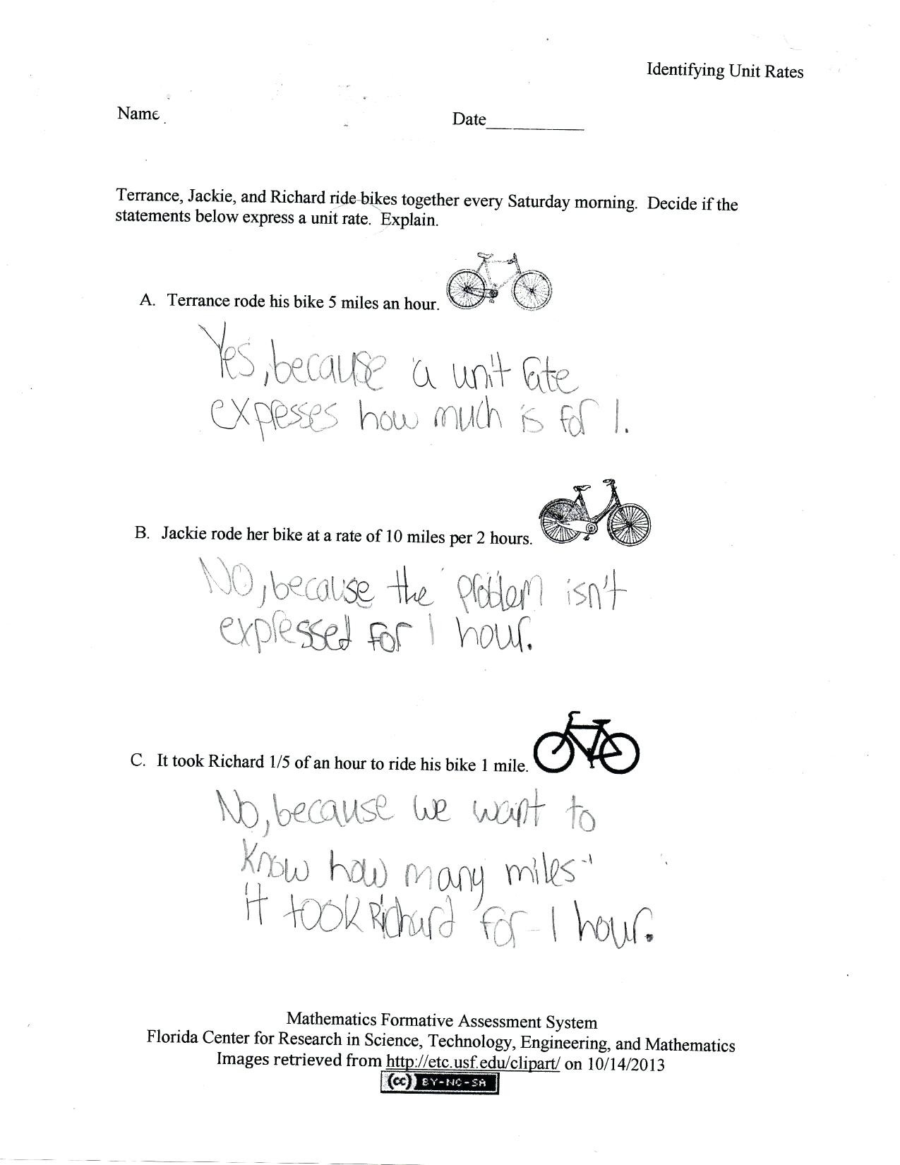 Unit Rate In Math Unit Rate Worksheets Math Drills