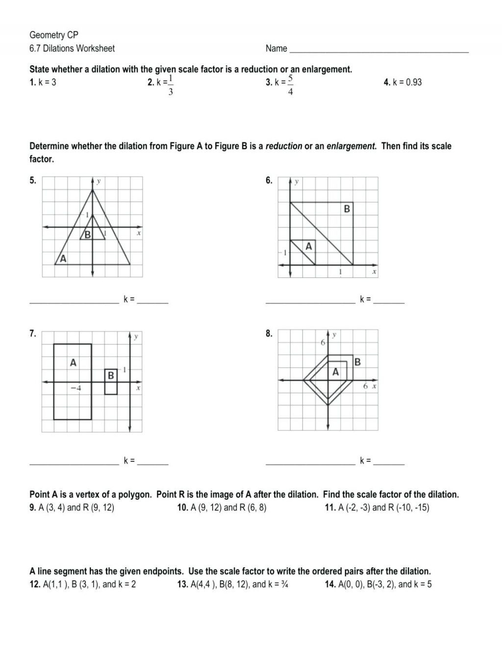 Va Dilations Worksheet Kuta Simple Monohybrid Cross