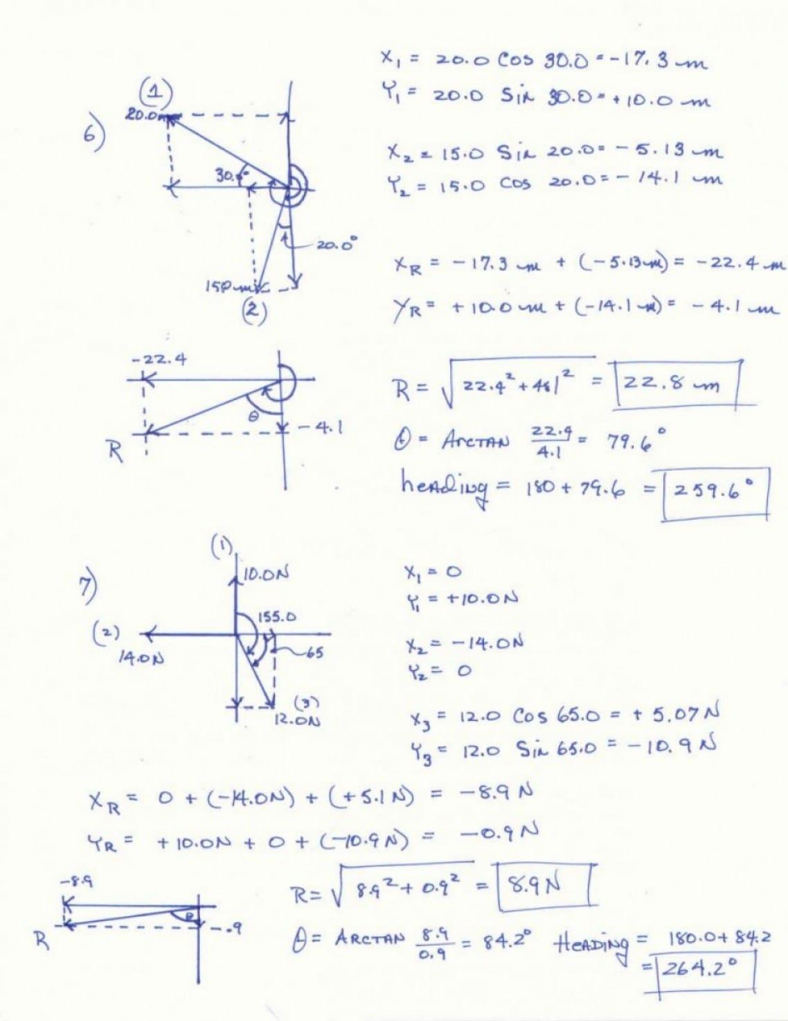 Vector Worksheet Physics Answers Idea Of Vectors