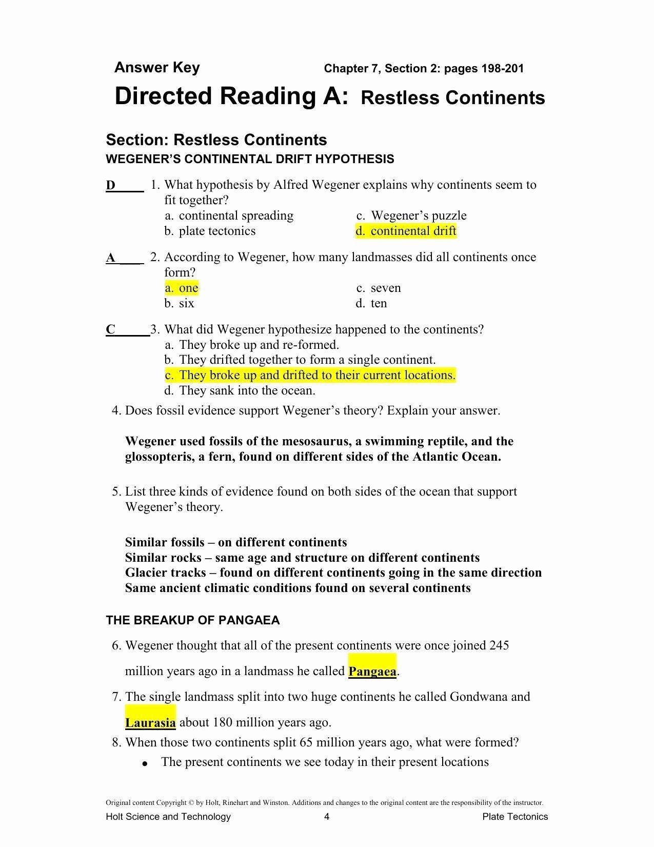 Volcanoes And Plate Tectonics Worksheet Worksheet